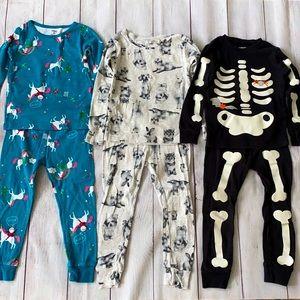Carter's Girls 3T Mixed Pajama Lot - 6 Pieces